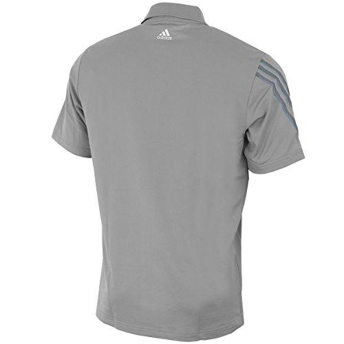 2015 adidas climacool 3 stripes mens golf polo shirt mid for Bulk golf shirts wholesale