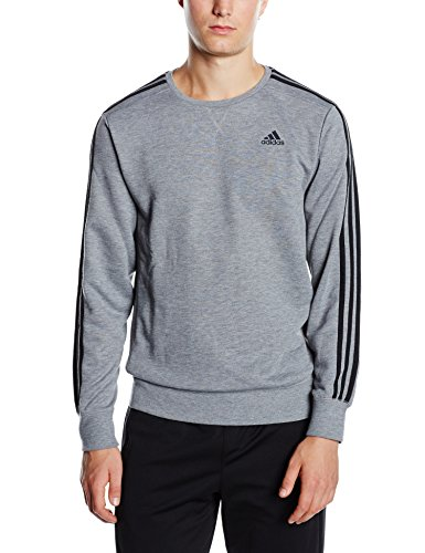 cd9ab19fe883 Adidas Men s Essentials 3-Stripes Crew French Terry Sweatshirt ...