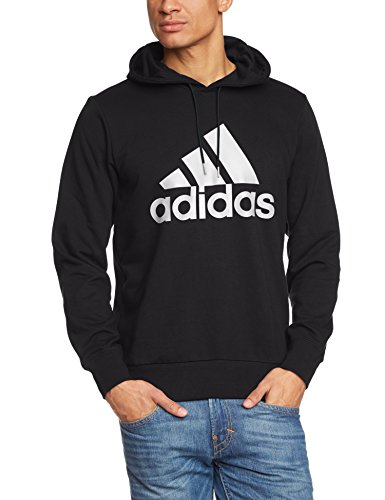 Adidas Men S Essentials Logo Hoodie Sweatshirt Black 2x