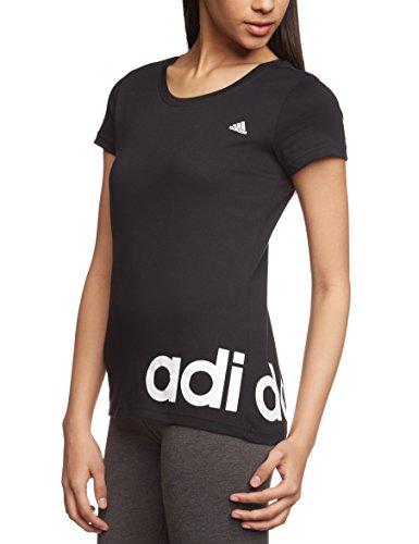 Adidas Women S Essentials Linear T Shirt Black White