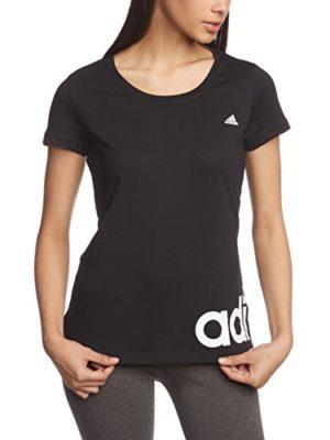 Adidas-Womens-Essentials-Linear-T-Shirt-BlackWhite-Medium-0