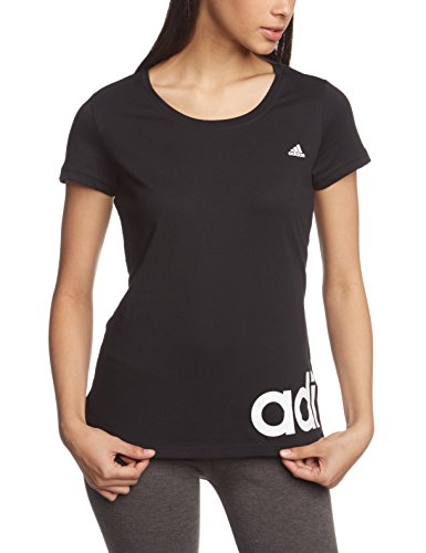 b036c34f Adidas Women's Essentials Linear T-Shirt - Black/White, Medium ...