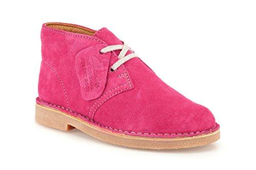 Clarks Girls Originals Desertbootinfg Suede Boots In Pink