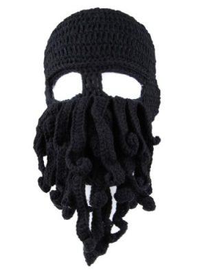 Freefisher-Unisex-Barbarian-Beard-Hat-Beanie-Handmade-Octopus-Hat-0