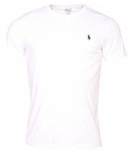 Men 39 s ralph lauren custom fit crew neck polo t shirt s xxl for Polo custom fit t shirts