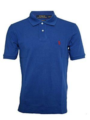 Mens-Ralph-Lauren-polo-shirt-Custom-Fir-Size-S-to-XL-Large-Royal-Blue-0