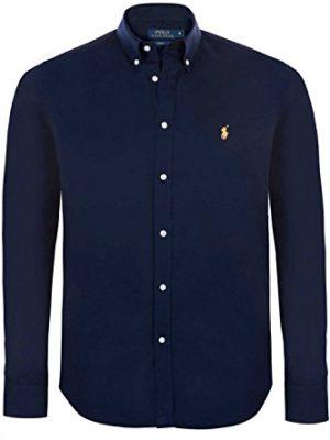Polo-Ralph-Lauren-Men-Shirt-Slim-Fit-Long-Sleeves-Shirt-Various-Colours-S-M-L-ColourNavySizeM-0