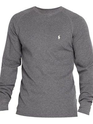 Polo-Ralph-Lauren-Mens-Boys-Long-Sleeve-Waffle-Knit-Thermal-T-Shirt-Grey-Large-0