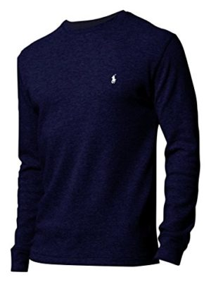 Polo-Ralph-Lauren-Mens-Boys-Long-Sleeve-Waffle-Knit-Thermal-T-Shirt-Navy-Blue-Large-0