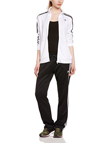 b4e2d0b8a89 adidas ESS 3S Suit Clothing Women's Tracksuit White Top:White/Black ...