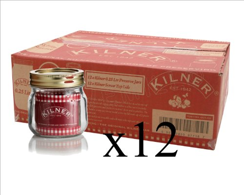12 X Kilner Screw Top Lid Air Tight Round Preserving Glass