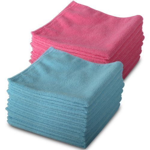 20-Pack-of-Genuine-Exel-10-Pink-10-Blue-Microfibre-Magic-Cleaning-Cloths-Chemical-Free-Cleaning-Anti-Bacterial-Microfiber-Cloths-for-Amazing-Smear-Free-Wiping-0