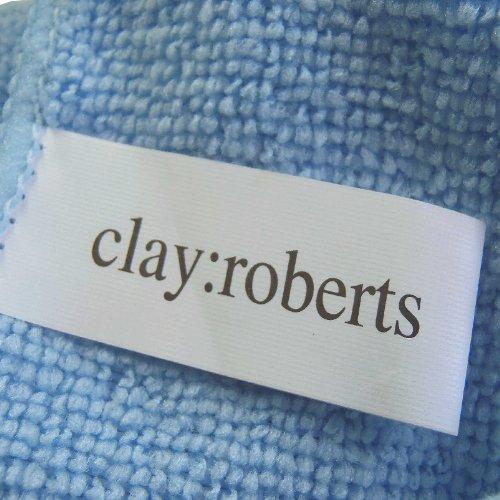 Microfibre Cloths 10 Pack Blue Large Super Soft Clay