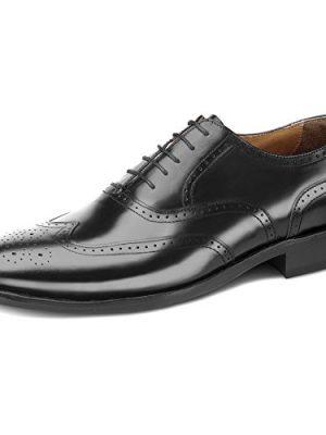 Samuel-Windsor-Mens-Leather-Classic-Cheltenham-Brogues-Black-9-0