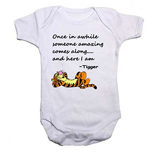 Tigger Beautiful Quotation Baby Vest Bodysuit Babygrow
