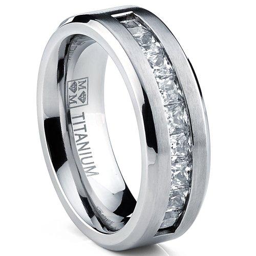 Ultimate Metals Co Titanium Mens Wedding Band Engagement  ...